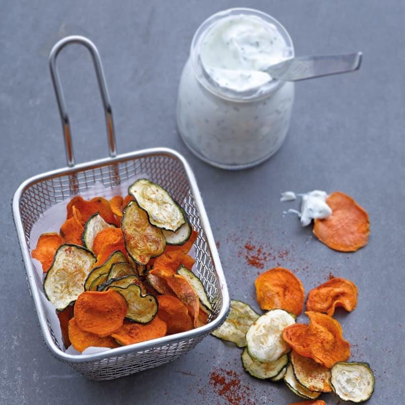 Photo de Chips de légumes et dip prise par WW