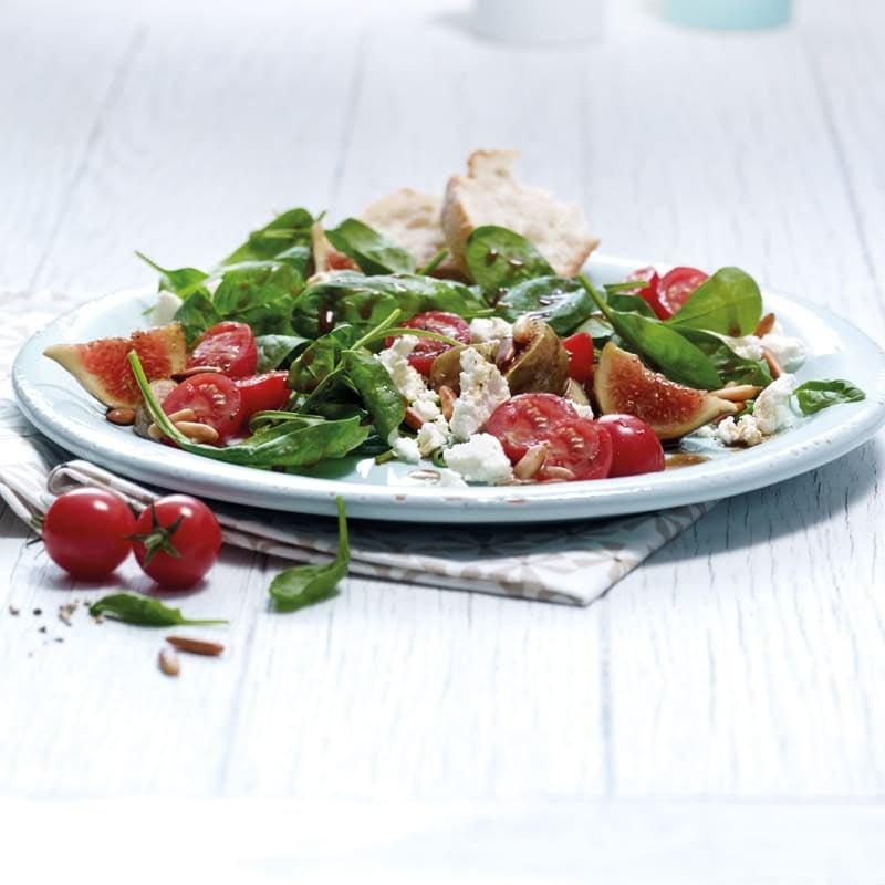 Photo de Salade de pousses d'épinards aux figues prise par WW
