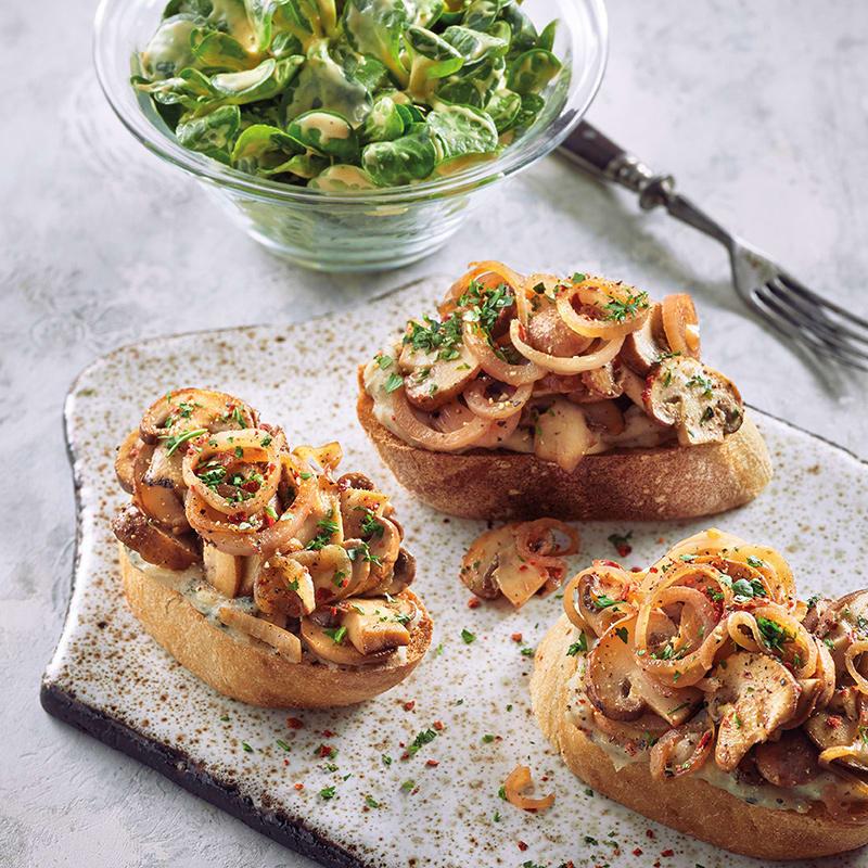 Foto Bohnen-Champignon-Crostini mit Salat von WW