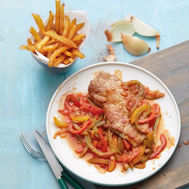 Photo de Escalope de porc et frites prise par WW