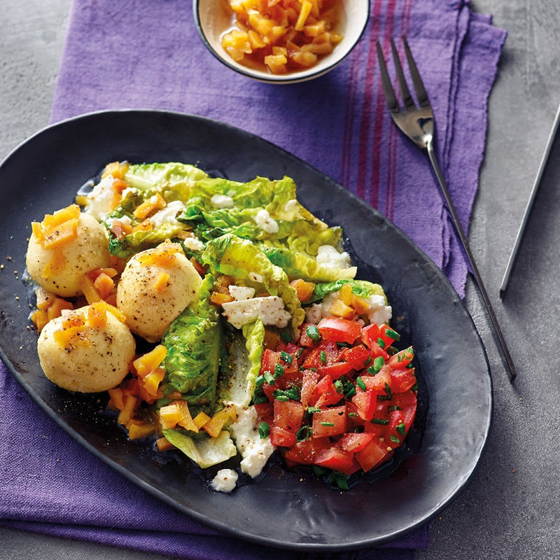 Foto Griessknödel mit gebratenem Salat von WW