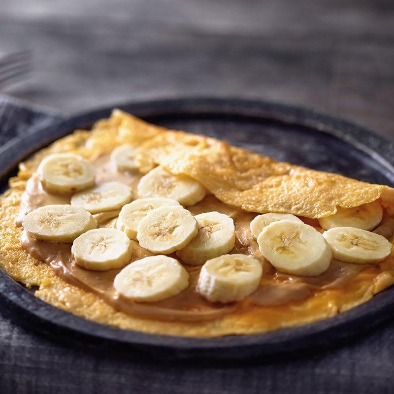 Photo de Omelette à la banane et purée de cacahuètes prise par WW