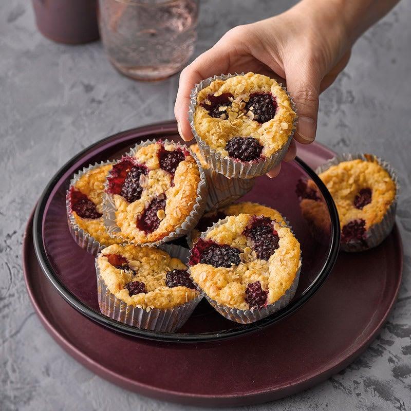 Photo de Muffins végan aux mûres prise par WW