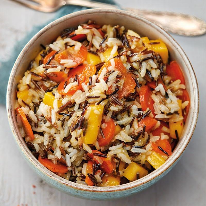 Photo de Salade de riz sauvage aux carottes glacées et sa sauce à la mangue prise par WW