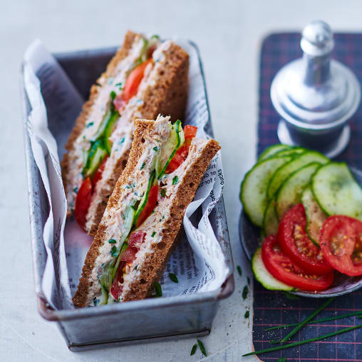Photo de Sandwich au thon et au concombre prise par WW