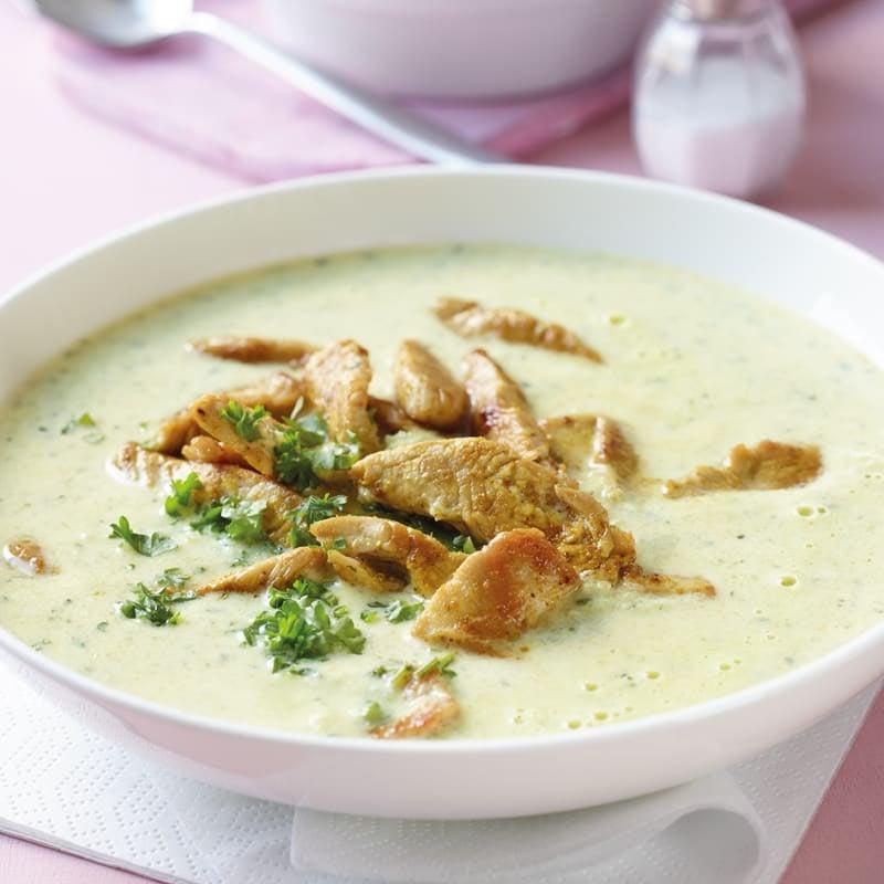 Foto Gemüse-Joghurt-Suppe mit Trutenstreifen von WW
