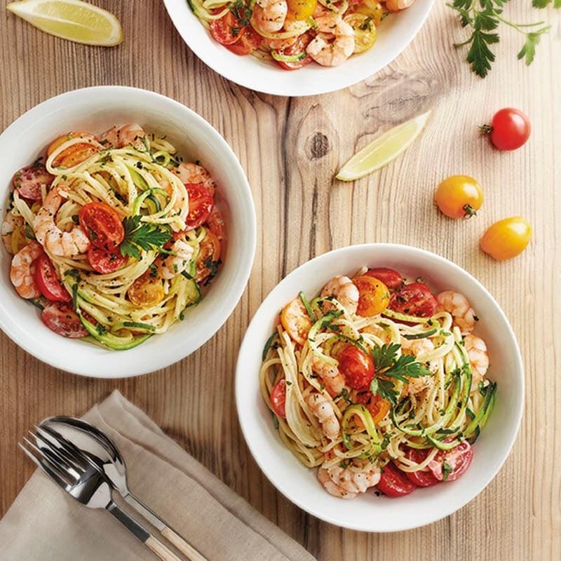 Photo de Spaghettis de courgettes aux crevettes prise par WW
