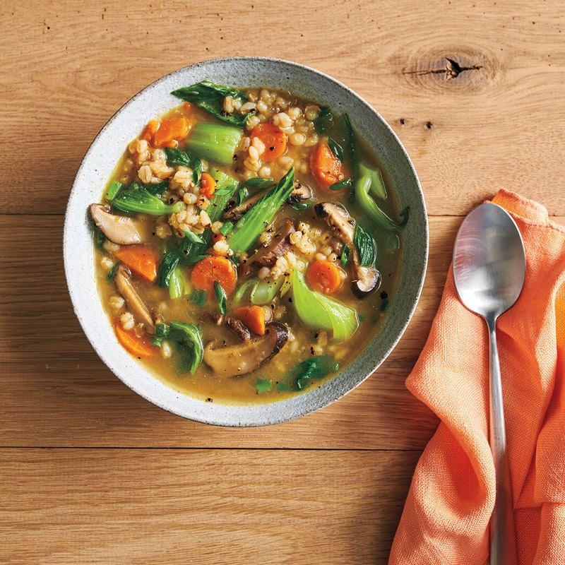 Foto Pilz-Rollgerste-Suppe mit Miso von WW