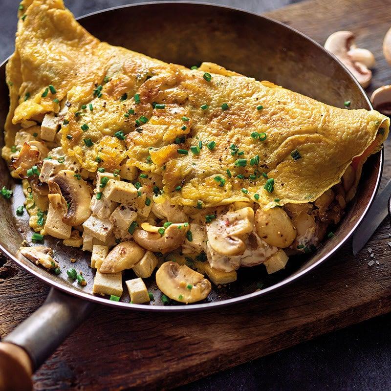 Photo de Omelette farcie aux champignons et au tofu prise par WW