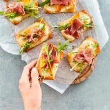 Foto Kürbis-Pizzette mit Rucola von WW