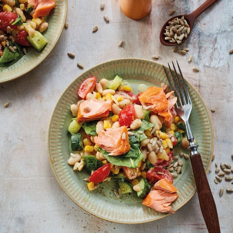 Foto Bohnen-Lachs-Salat mit Spinat von WW