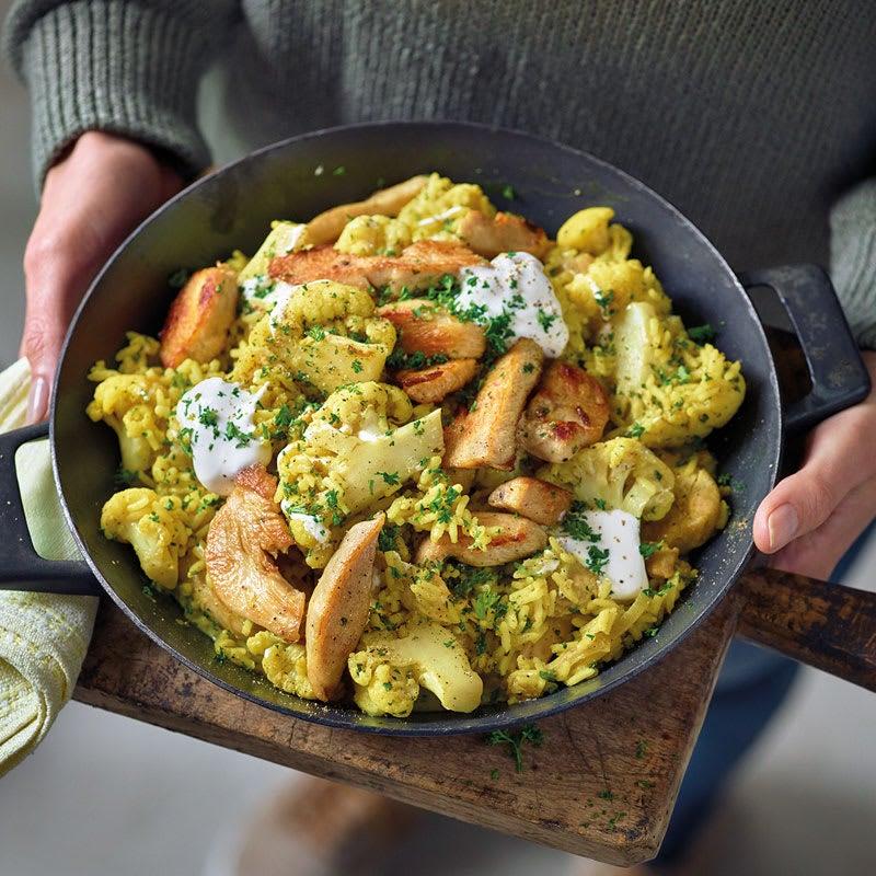 Photo de Curry de poulet et riz prise par WW