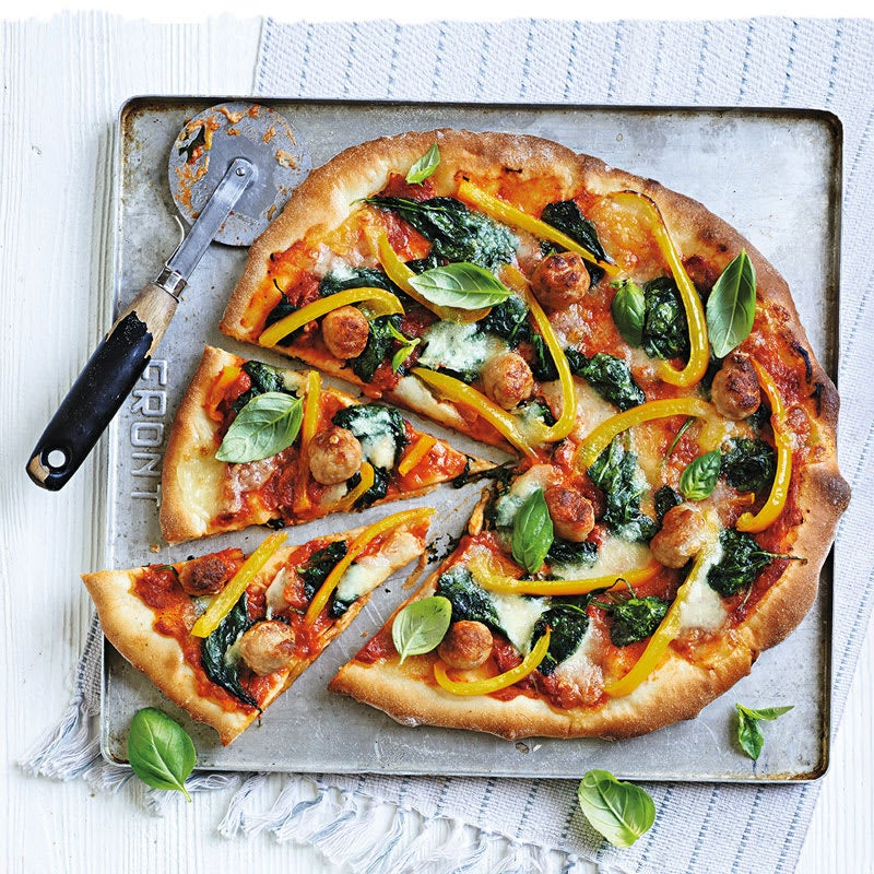 Photo de Pizza aux poivrons et aux boulettes de volaille prise par WW