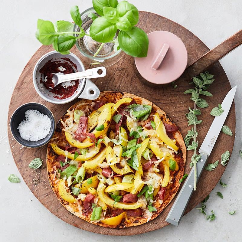 Photo de Pizza éclair au salami prise par WW