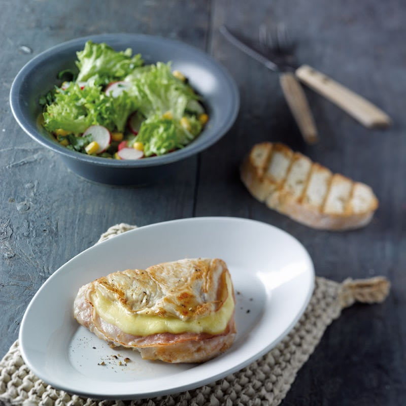 Photo de Cordon-bleu de poulet et salade prise par WW