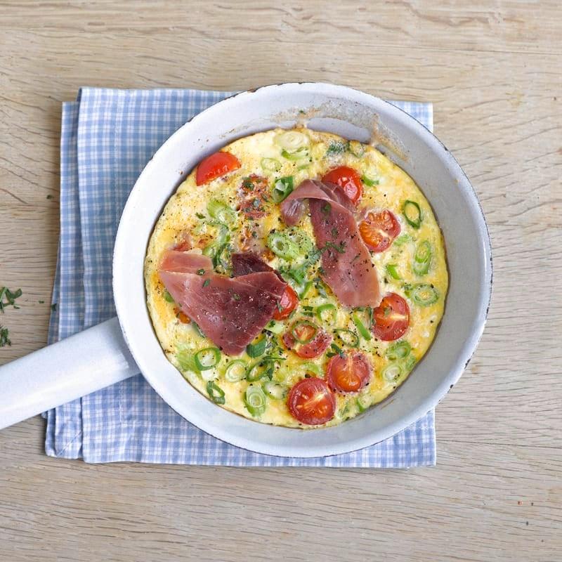 Photo de Savoureuse omelette tomates-jambon prise par WW