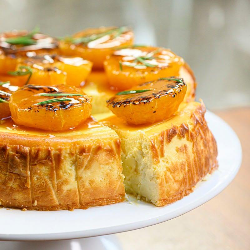 Foto Ricotta-Cheesecake mit karamellisierten Orangen von WW