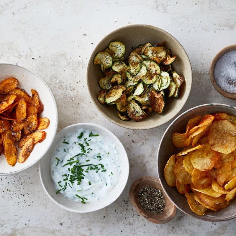 Photo de Chips de pommes de terre et de légumes à la friteuse à air chaud prise par WW