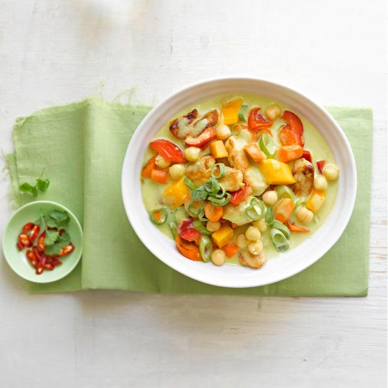 Foto Feuriges Kichererbsen-Mango-Curry von WW