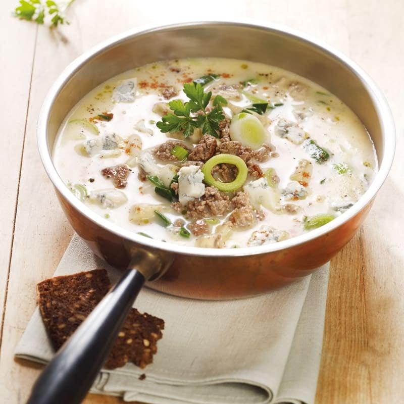 Foto Lauch-Suppe mit Gorgonzola von WW