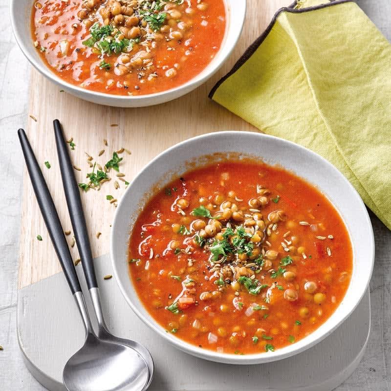 Foto Linsen-Tomaten-Suppe mit Kokos von WW