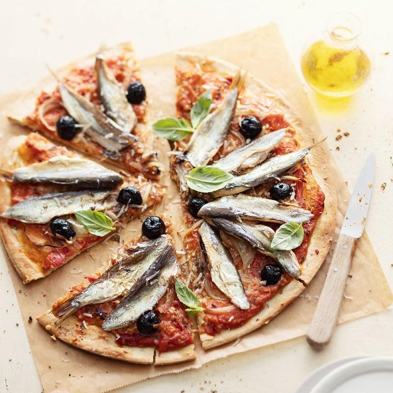 Photo de Pizza aux sardines fraîches prise par WW