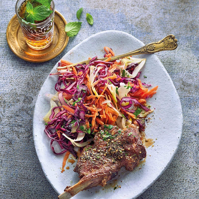 Photo de Salade de chou rouge à l'orientale et côtelettes d'agneau prise par WW