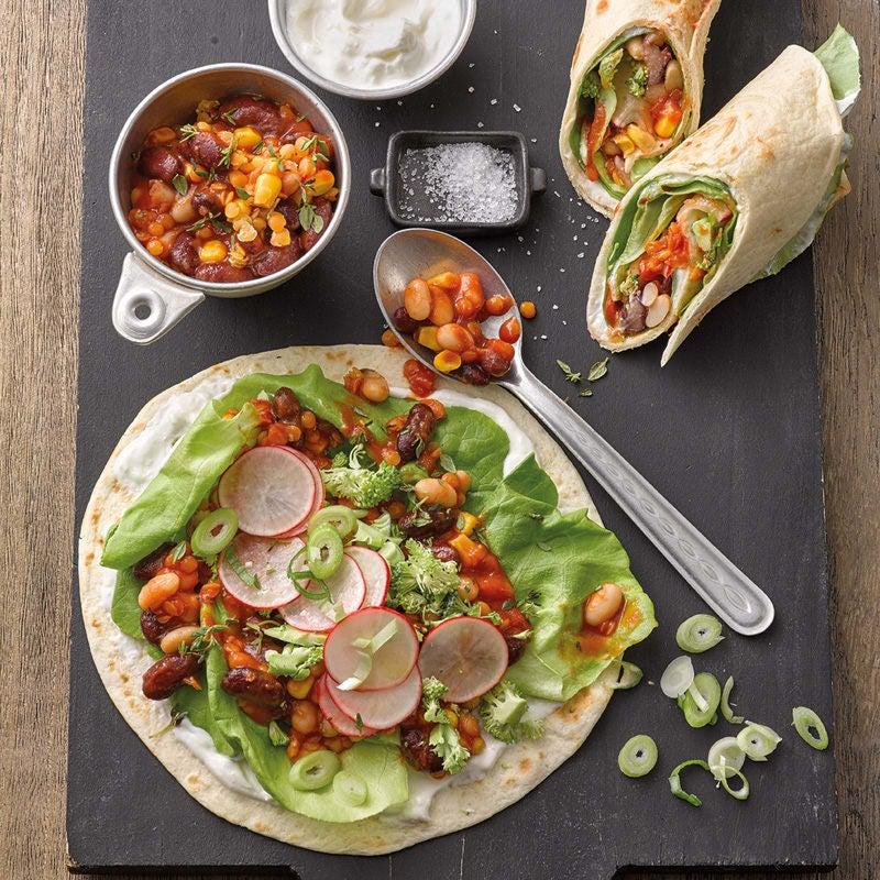 Photo de Wraps de légumes  et haricots prise par WW