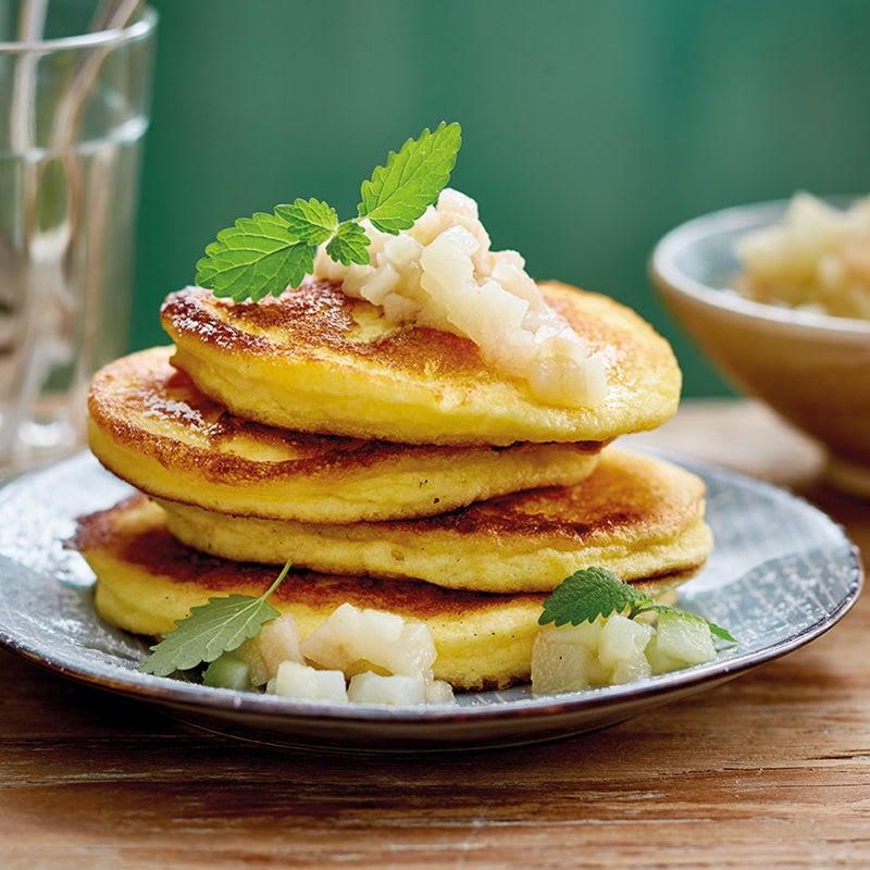 Foto Pancakes mit Quittenkompott von WW