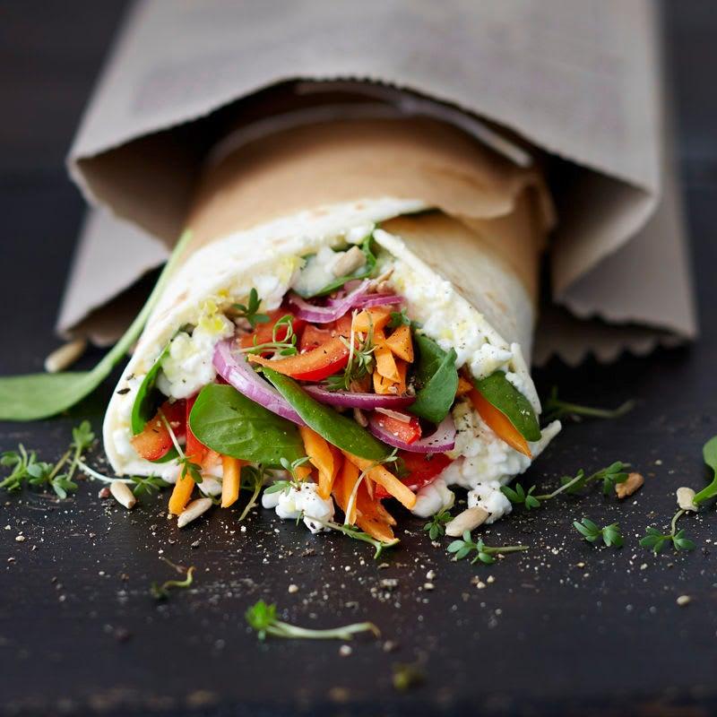 Photo de Wrap végétarien croquant / Wrap veggie croquant prise par WW