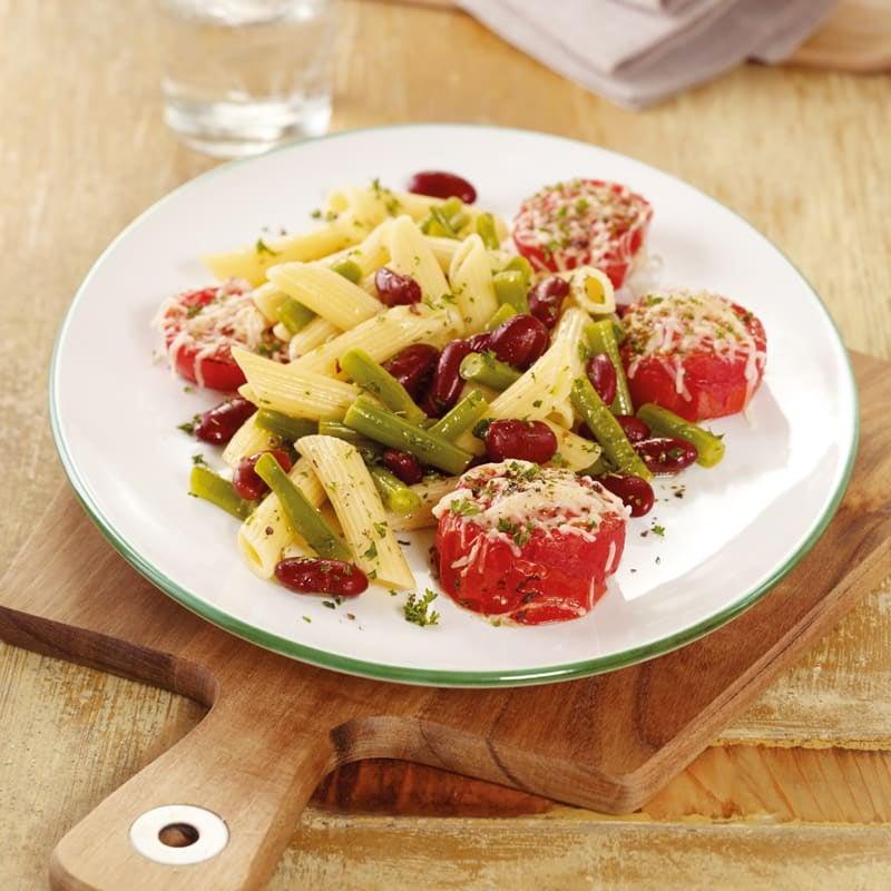Photo de Salade de pâtes aux haricots et tomates au four prise par WW