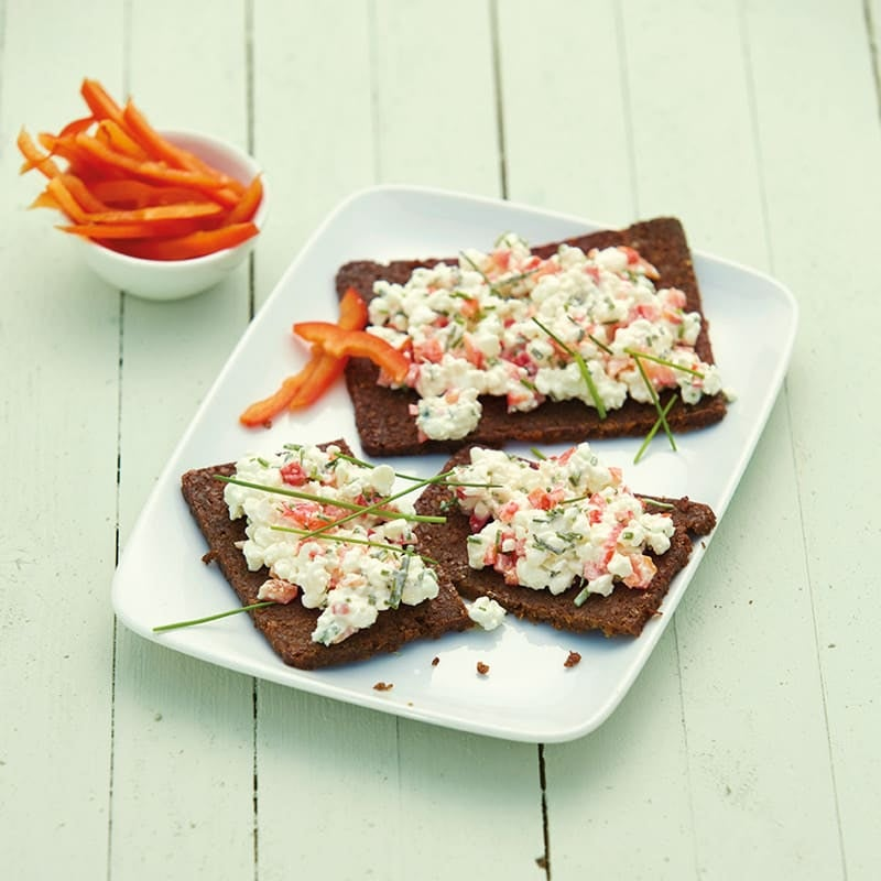 Photo de Tartines de cottage cheese au poivron prise par WW