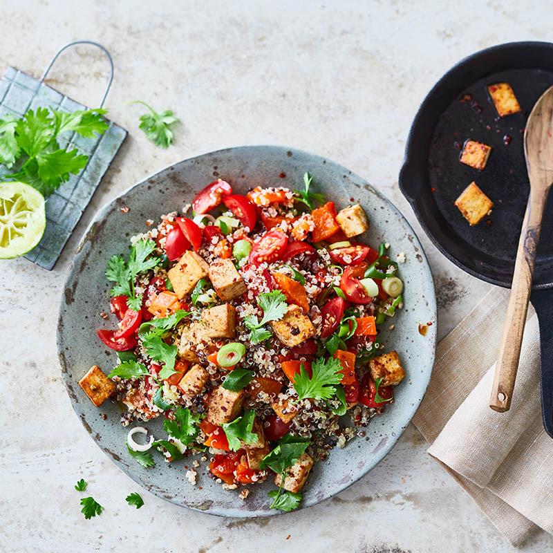 Photo de Salade de quinoa au tofu mariné prise par WW