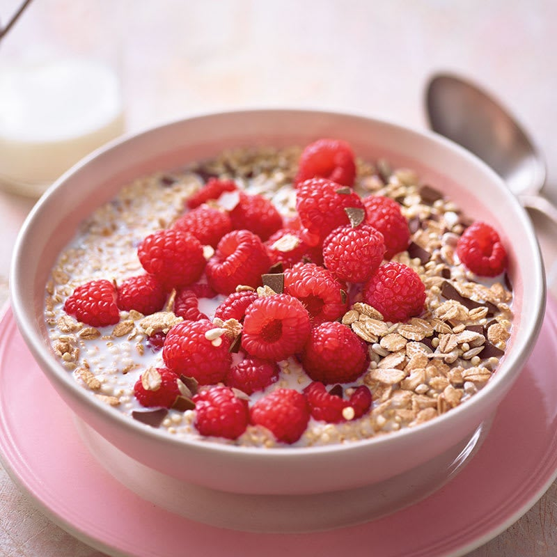 Photo de Muesli aux framboises et au quinoa soufflé prise par WW