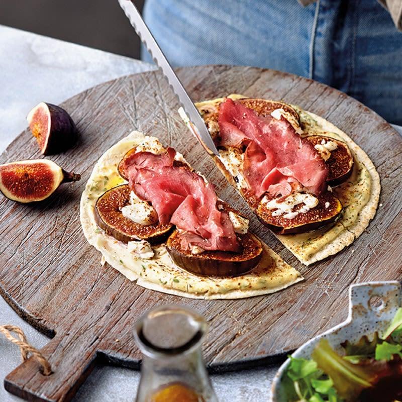 Foto Blitzpizza mit Feige und Roastbeef von WW