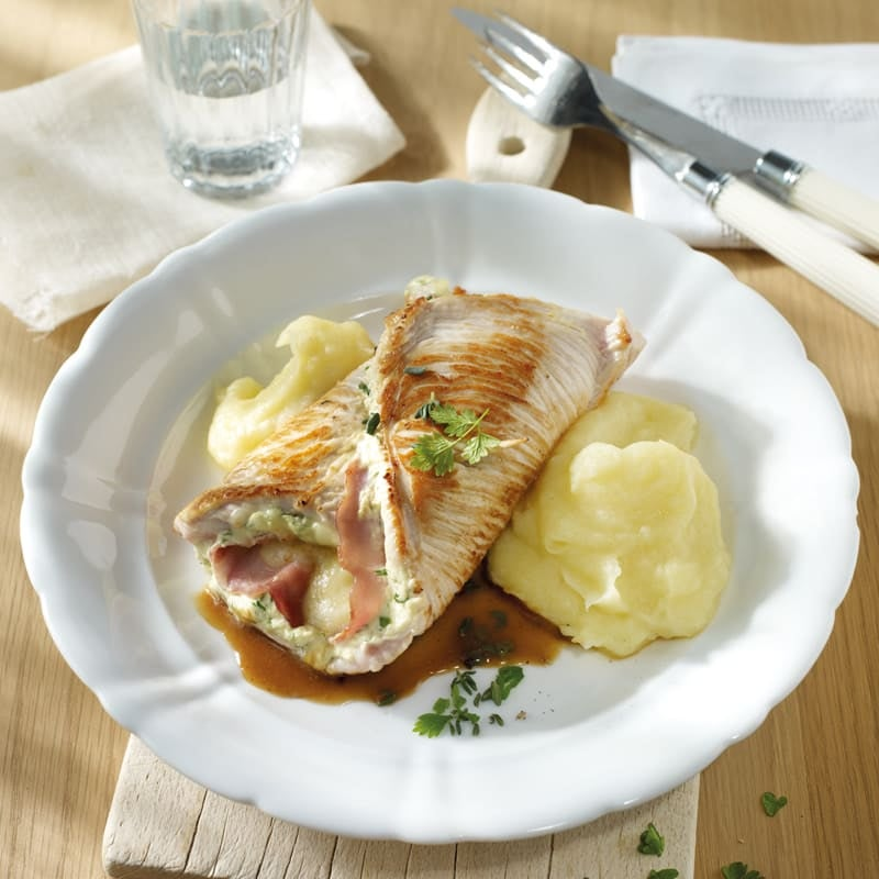 Foto Truten-Cordon-Bleu mit Kartoffel-Sellerie-Püree von WW