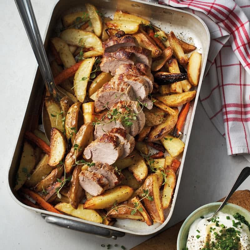 Photo de Filet mignon de porc, légumes-racines et pommes de terre prise par WW