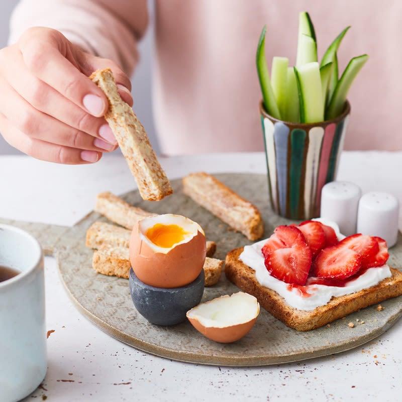 Photo de Toast de petit-déjeuner et œuf prise par WW