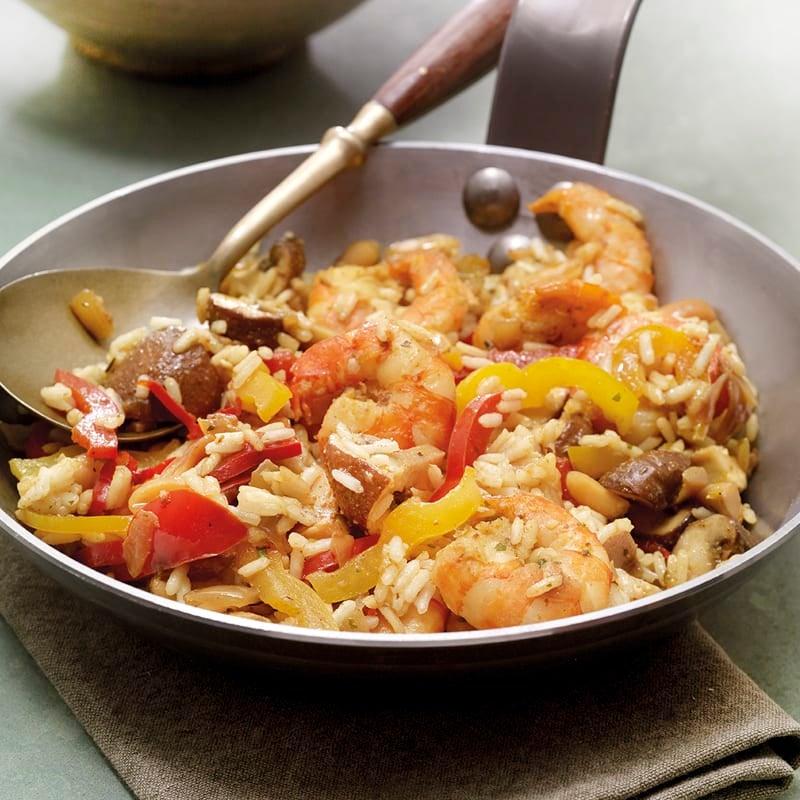 Photo de Poêlée de riz aux crevettes prise par WW