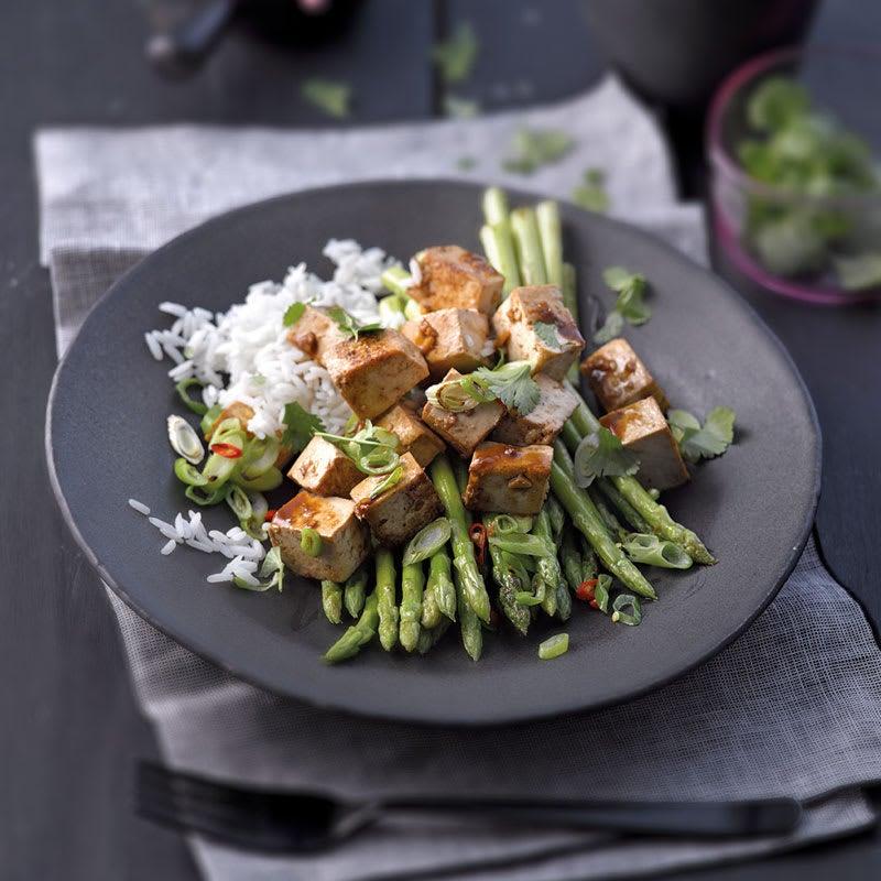 Photo de Tofu mariné et asperges thaïes prise par WW