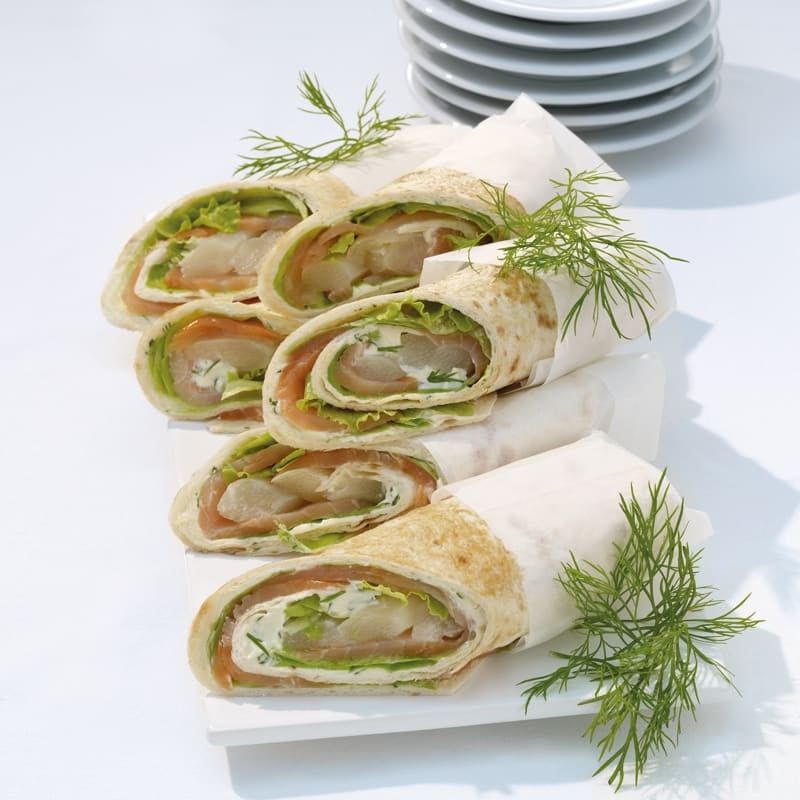 Photo de Wraps au saumon fumé et asperges prise par WW