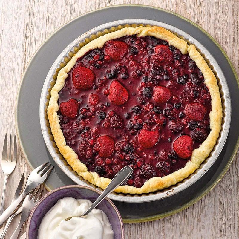Photo de Tarte aux fruits rouges et à la crème prise par WW