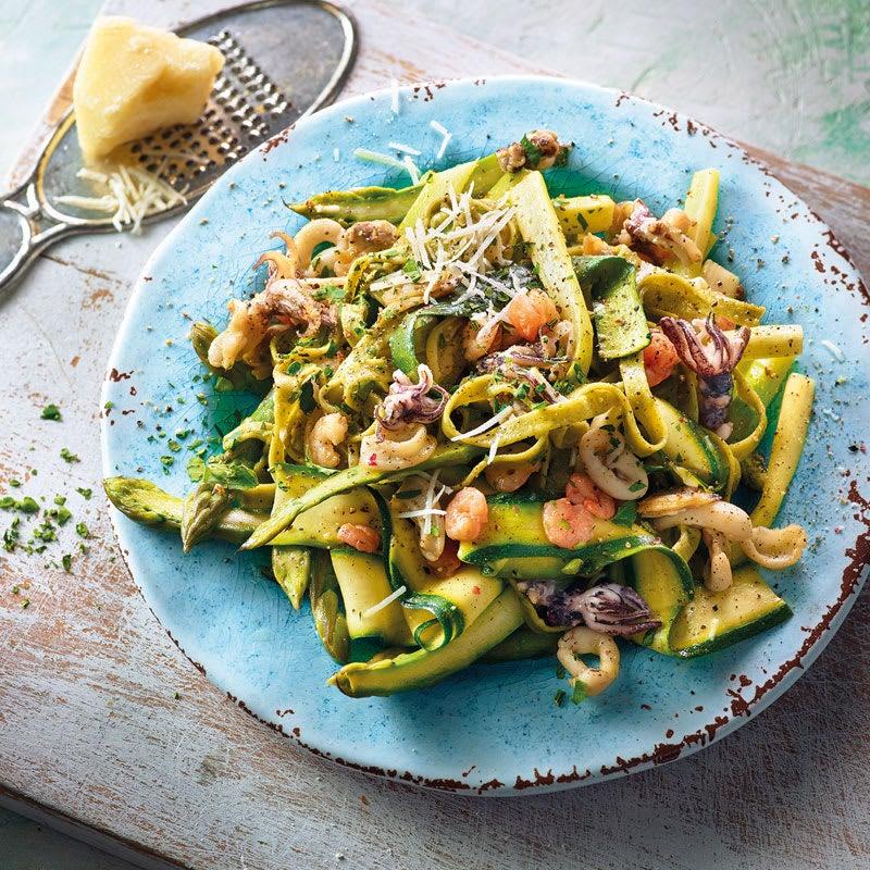 Foto Grüne Pasta mit Meeresfrüchten von WW