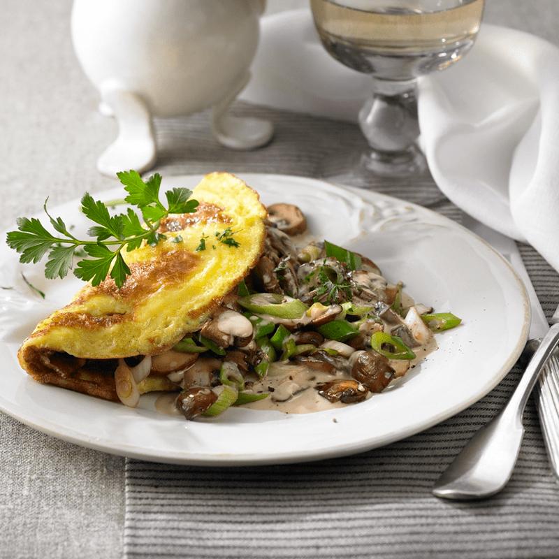 Foto Omelette mit Pilzfüllung von WW