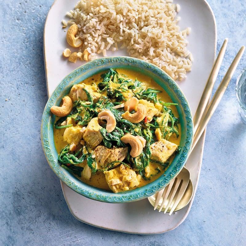 Foto Truten-Spinat-Curry mit Cashews von WW