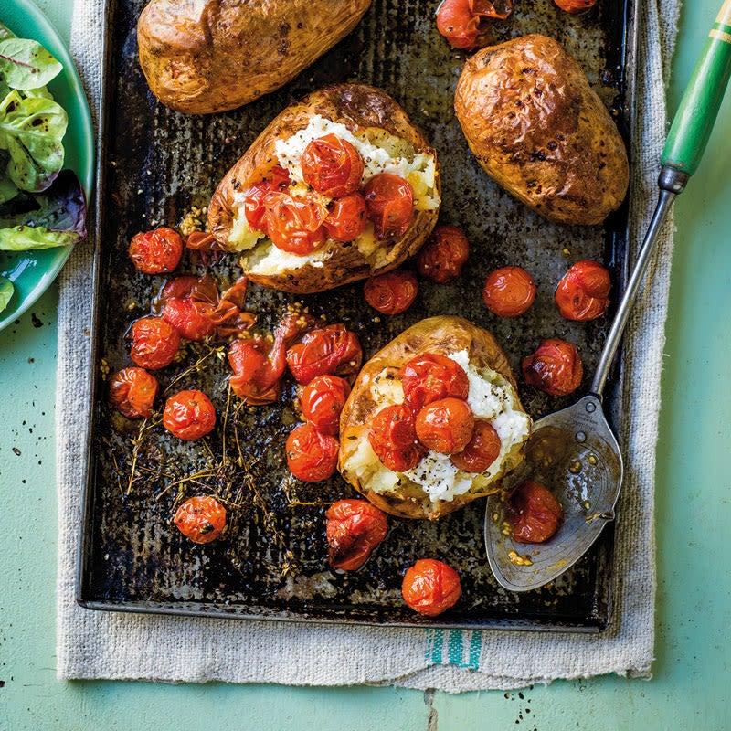 Photo de Pommes de terre au four, ricotta et tomates grillées prise par WW