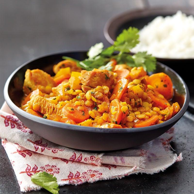 Photo de Curry de poulet et riz basmati prise par WW