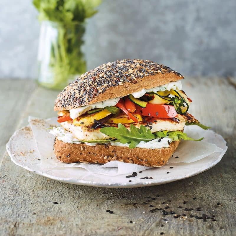 Photo de Burger aux légumes grillés et halloumi prise par WW