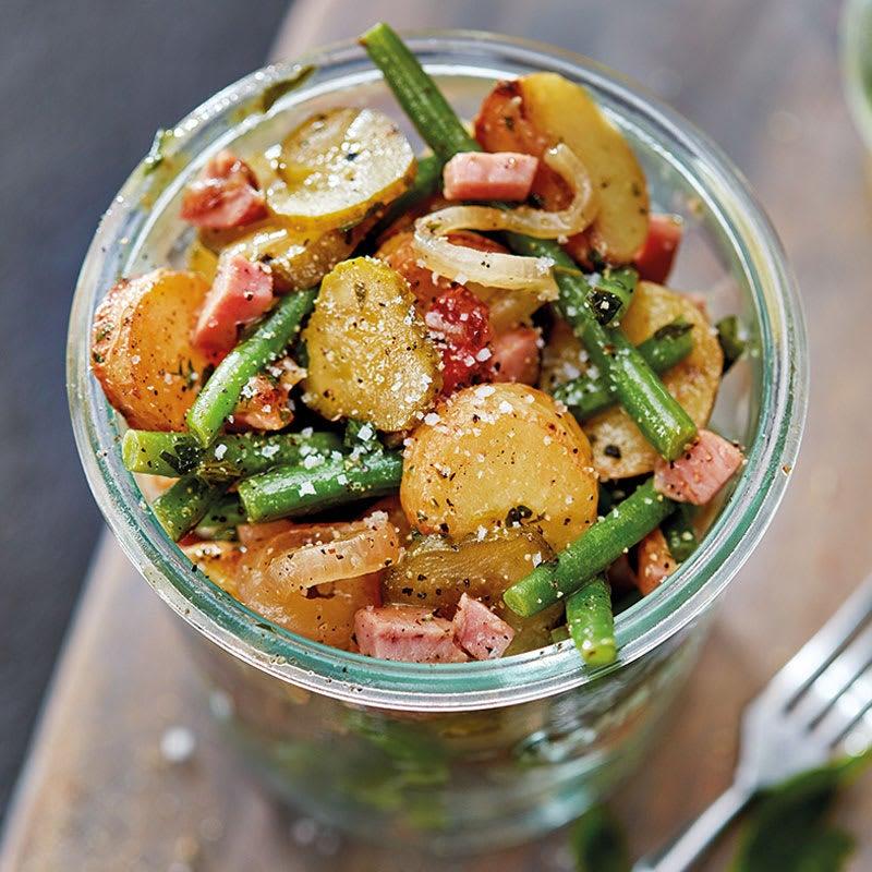 Photo de Salade de pommes de terre sautées aux haricots et au jambon prise par WW
