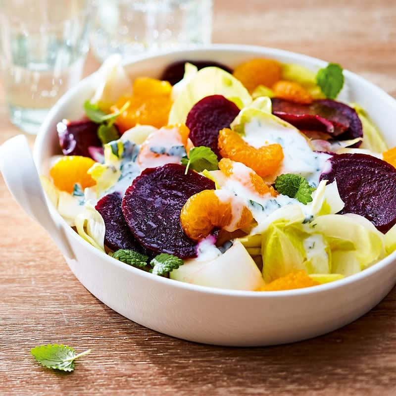 Photo de Salade de chicorée et de betteraves rouges prise par WW